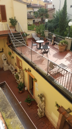 Lovely terrace at Hostel Archi Rossi