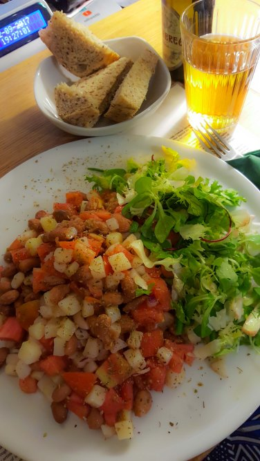 Libreria Brac - potato, tomato, bean and oregano salad (delicious!)