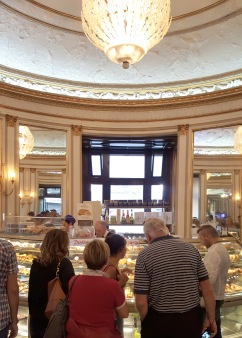 Caffè Gambrinus - the yummy cakes and treats available in the glamorous cafe.