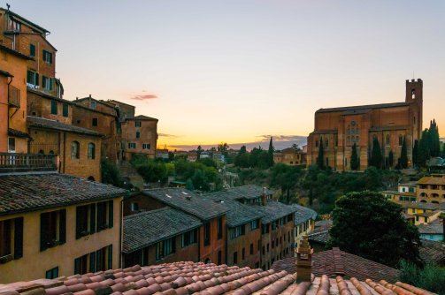 Favourite view towards the Basilica of San Domenico, also known as Basilica Cateriniana,