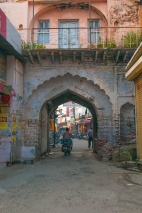 Rishikesh Town on the way to visiting temples and Triveni Ghat