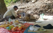 Maggi and snacks at the Neer Waterfall